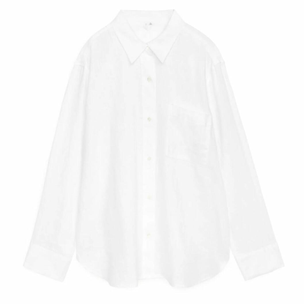 Klassisk vit linneskjorta ARKET
