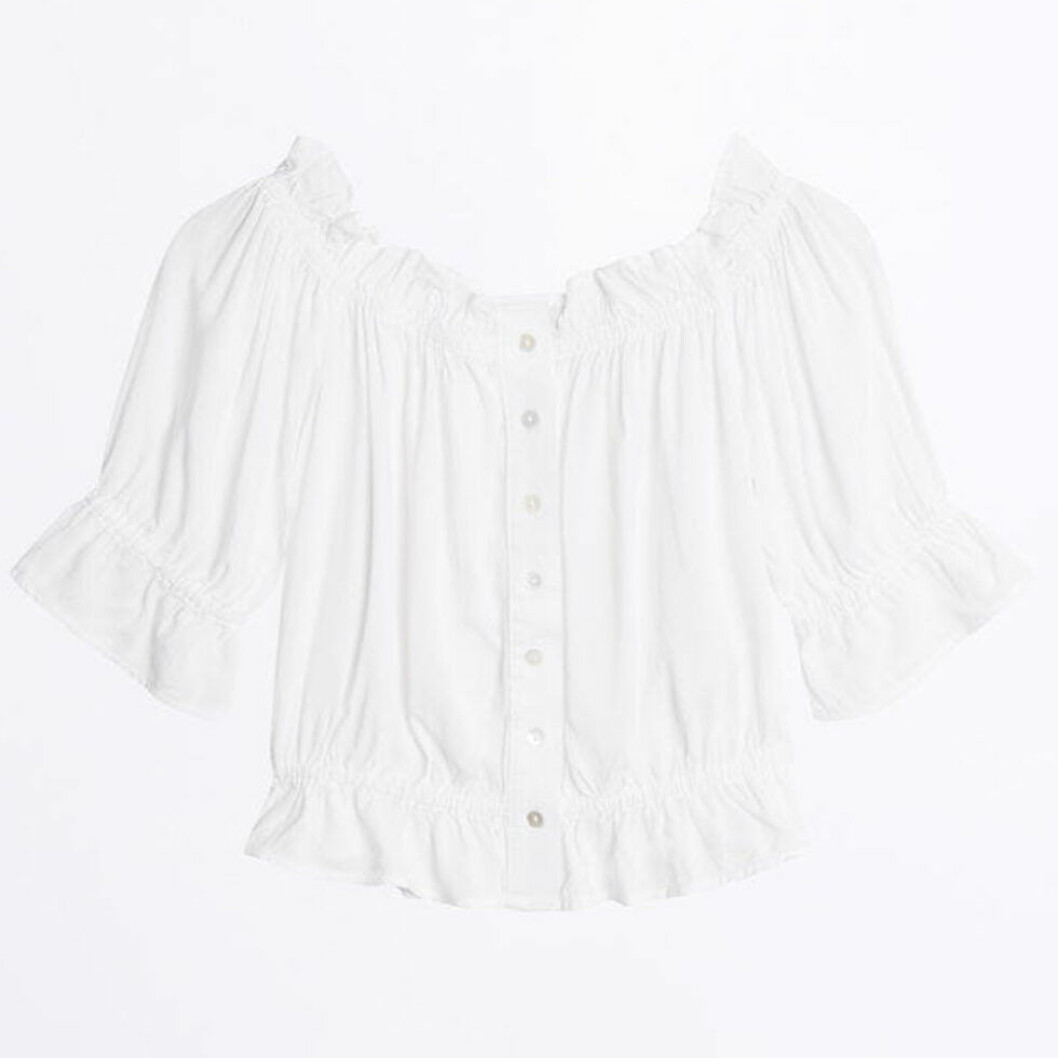 Vit off shoulder-topp