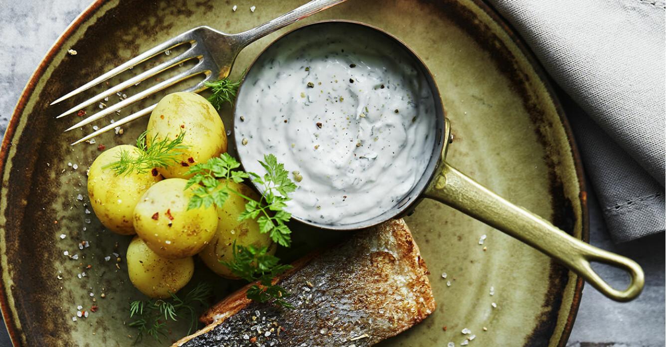 Recept på vit örtsås