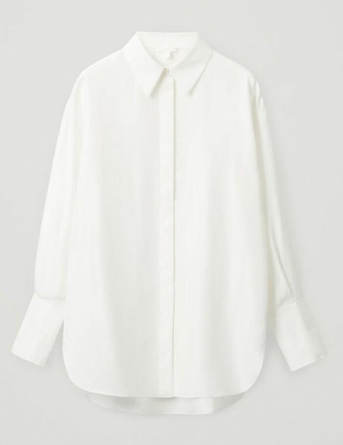 Vit silkesskjorta Cos