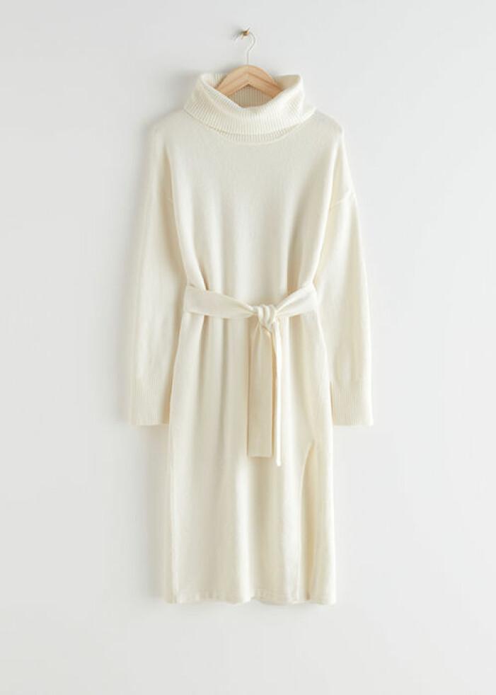Vit stickad klänning, & Other stories