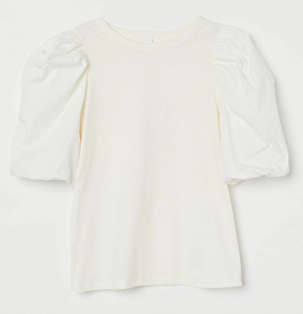 vit topp med puffärm från H&M