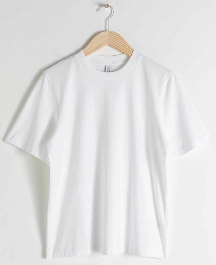 vit tshirt från & other stories