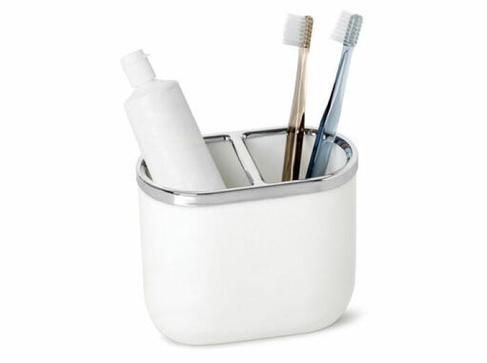 vit tandborsthållare