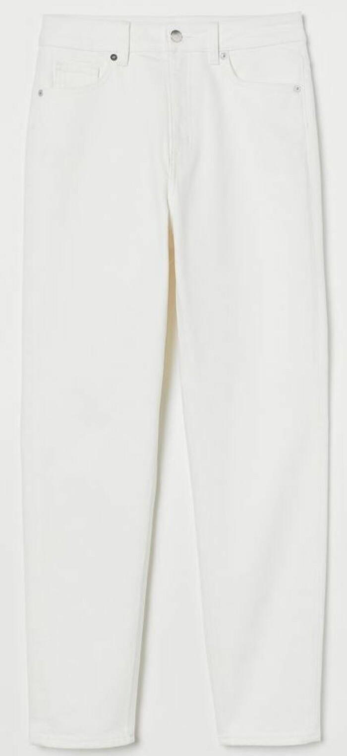 Vita jeans i rak modell, H&M