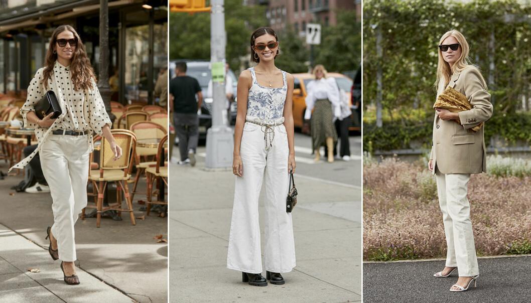 Trendiga jeans är trendigt våren 2020