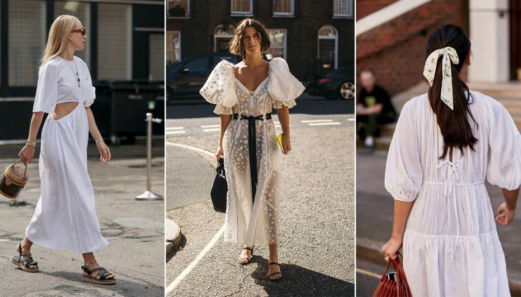 Vita klänningar att bära våren och sommaren 2020