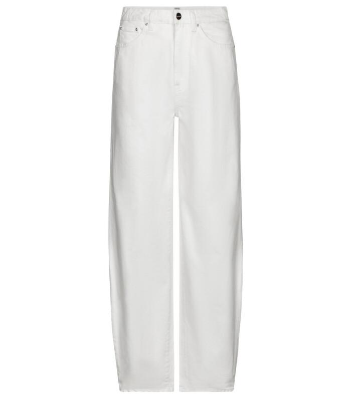 Vita klassiska jeans i modern och avslappnad modell