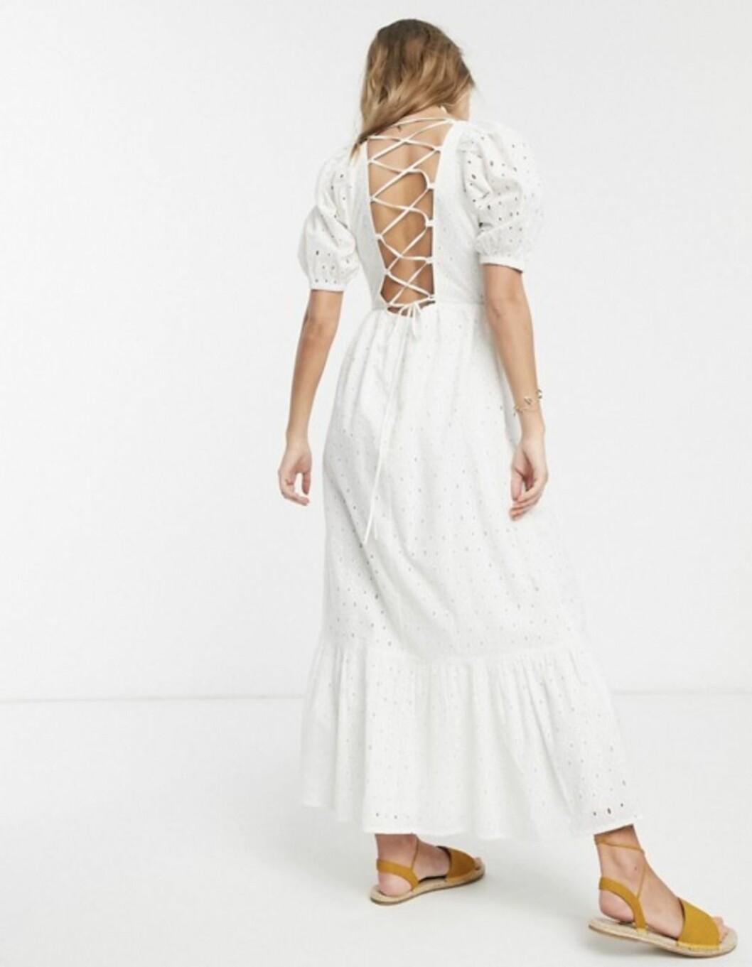 Vit klänning från asos.