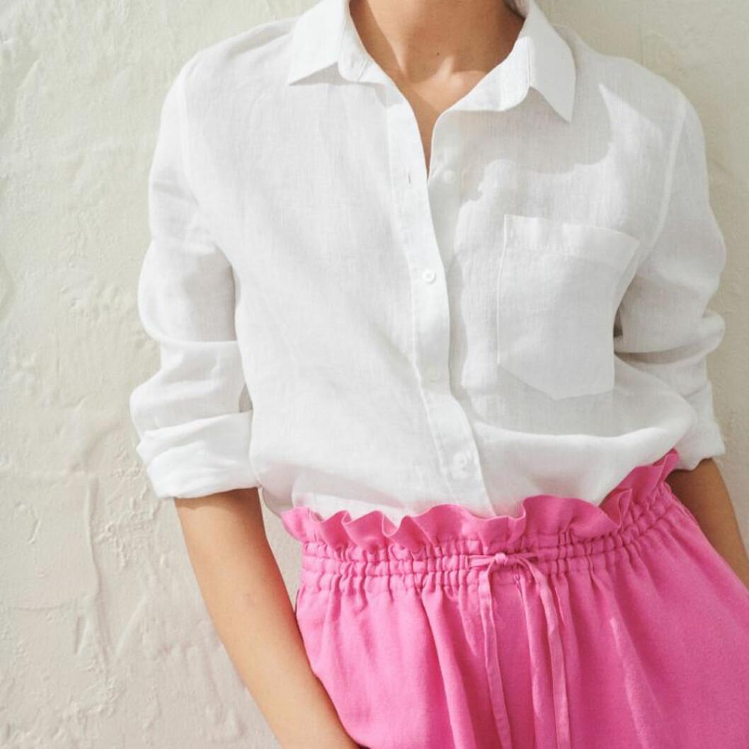 Vit linneskjorta från H&M