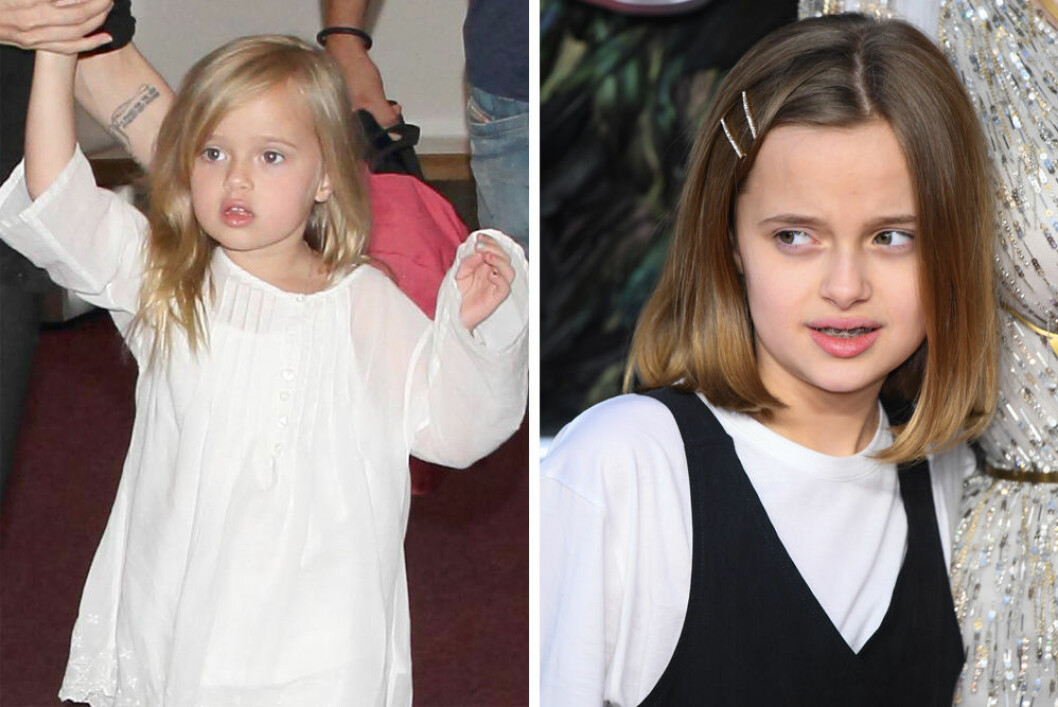 Vivienne Jolie-Pitt som liten och som 11 år