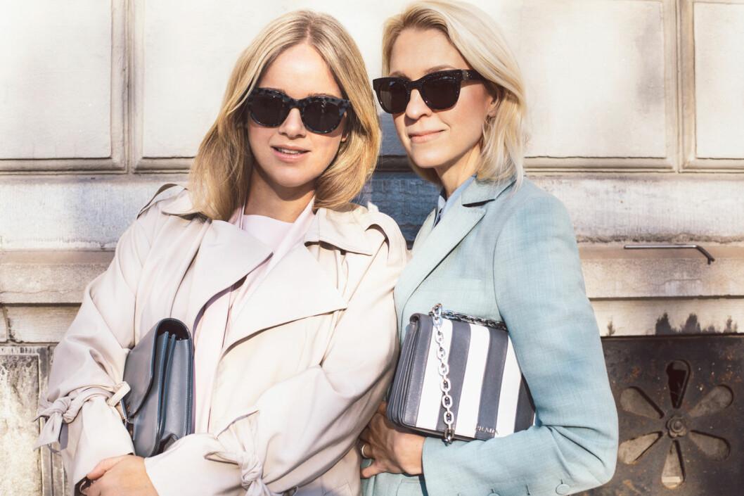 Ebba Kleberg von Sydow och Emilia de Poret i sina egendesignade solglasögon från Nividas x Säker Stil