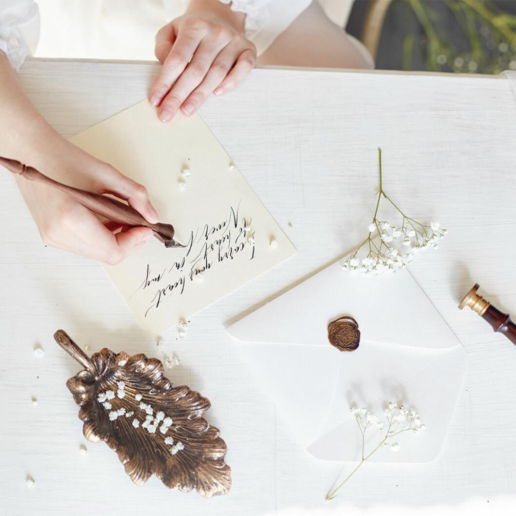 Inspireras till att skriva dina bröllopslöften