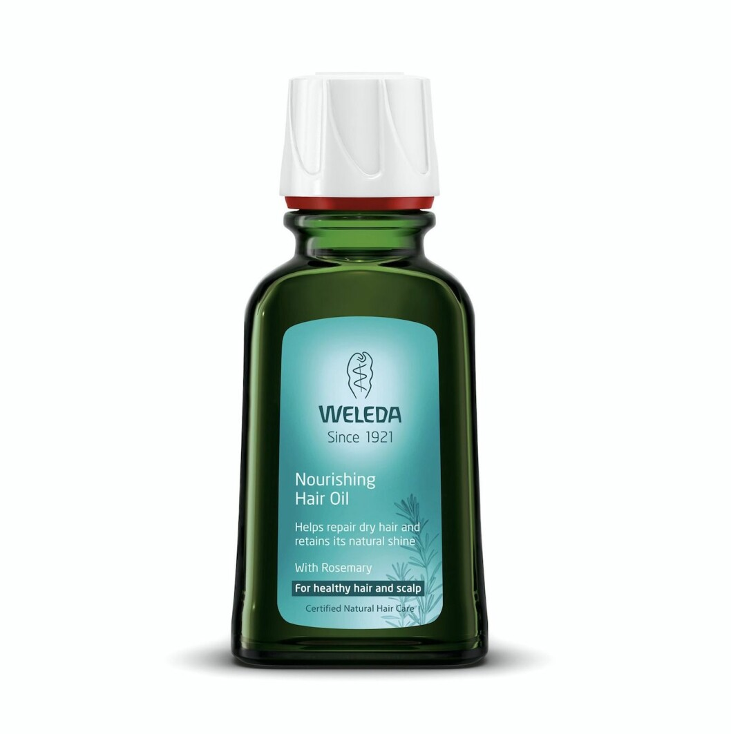 Nourishing hair oil från Weleda.