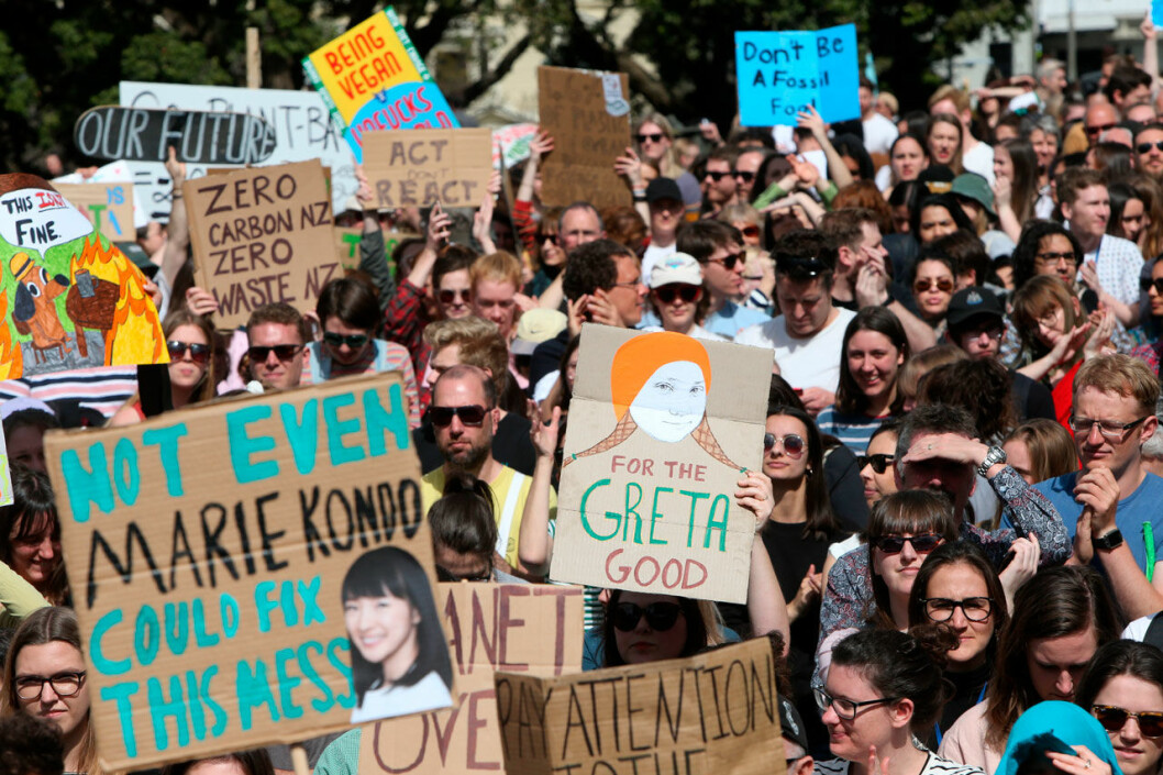 Greta Thunbergs strejk för klimatet ägde bland annat rum i Nya Zeeland