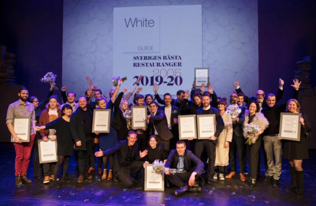 Alla vinnare på White Guide Gala 2019.