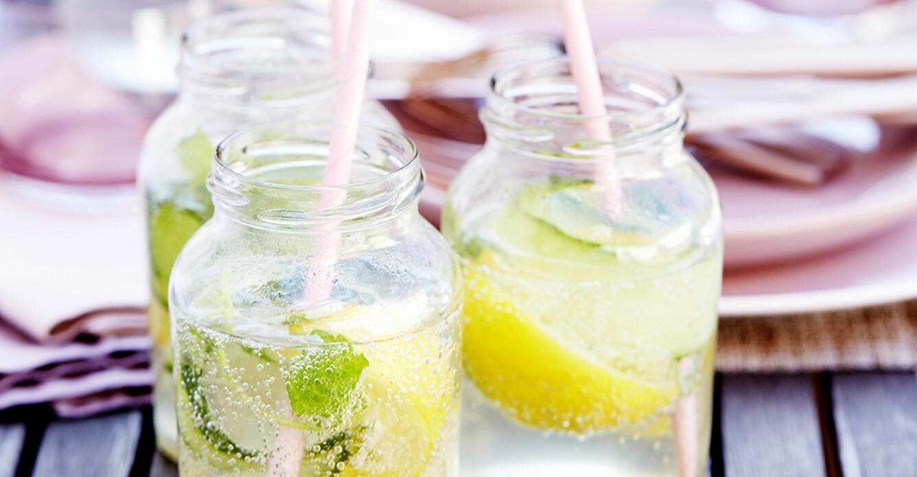 Recept på wine cooler med mynta, gurka och citron