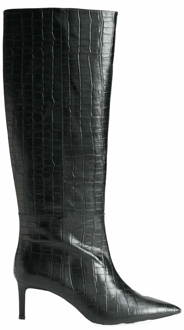 xHöga stövlar från & Other stories med krokodil-inspirerat mönster