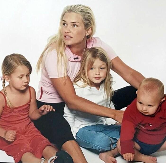 Yolanda Hadid med barnen