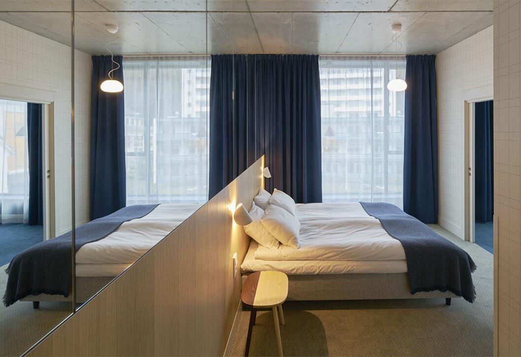 Hotellrum på Zander K i Bergen