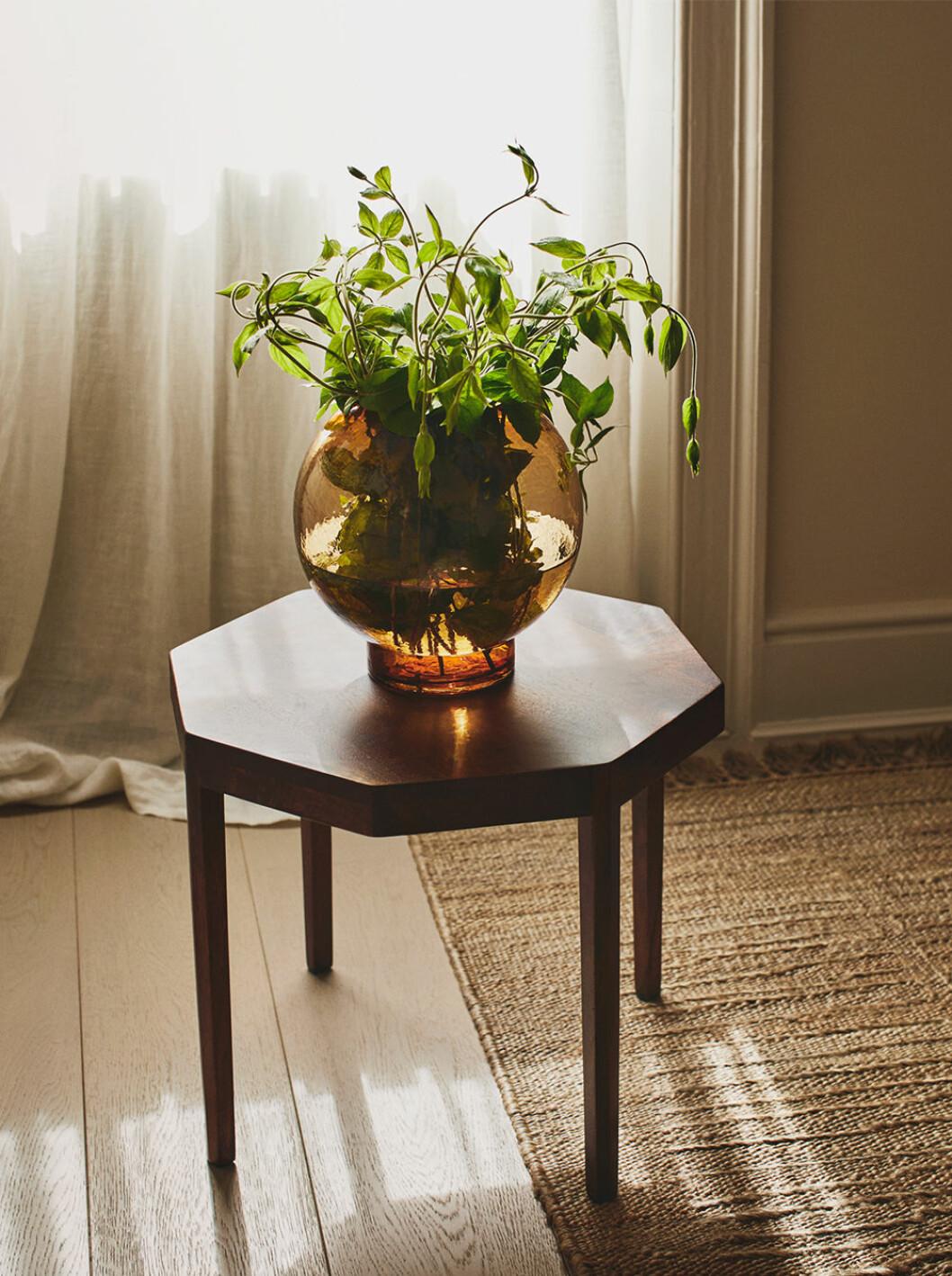 Soffbord och vas i tonat glas från Zara Home