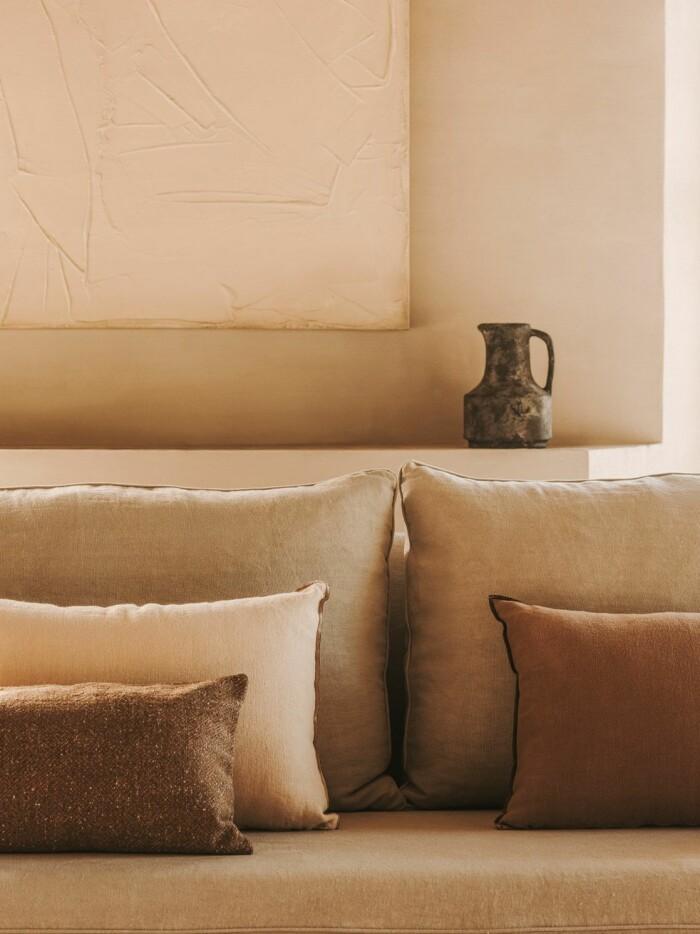 sofistikerad inredning i beige och brunt på Zara Home