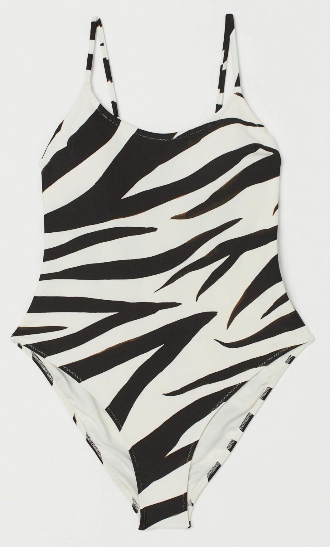 Baddräkt i zebramönster från H&M.