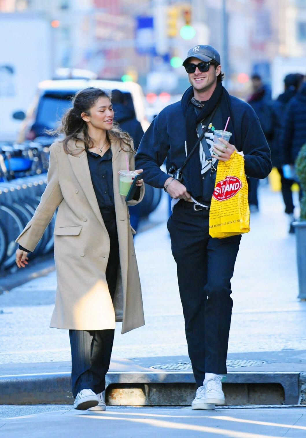 Zendaya och Jacob Elordi syntes i New York.