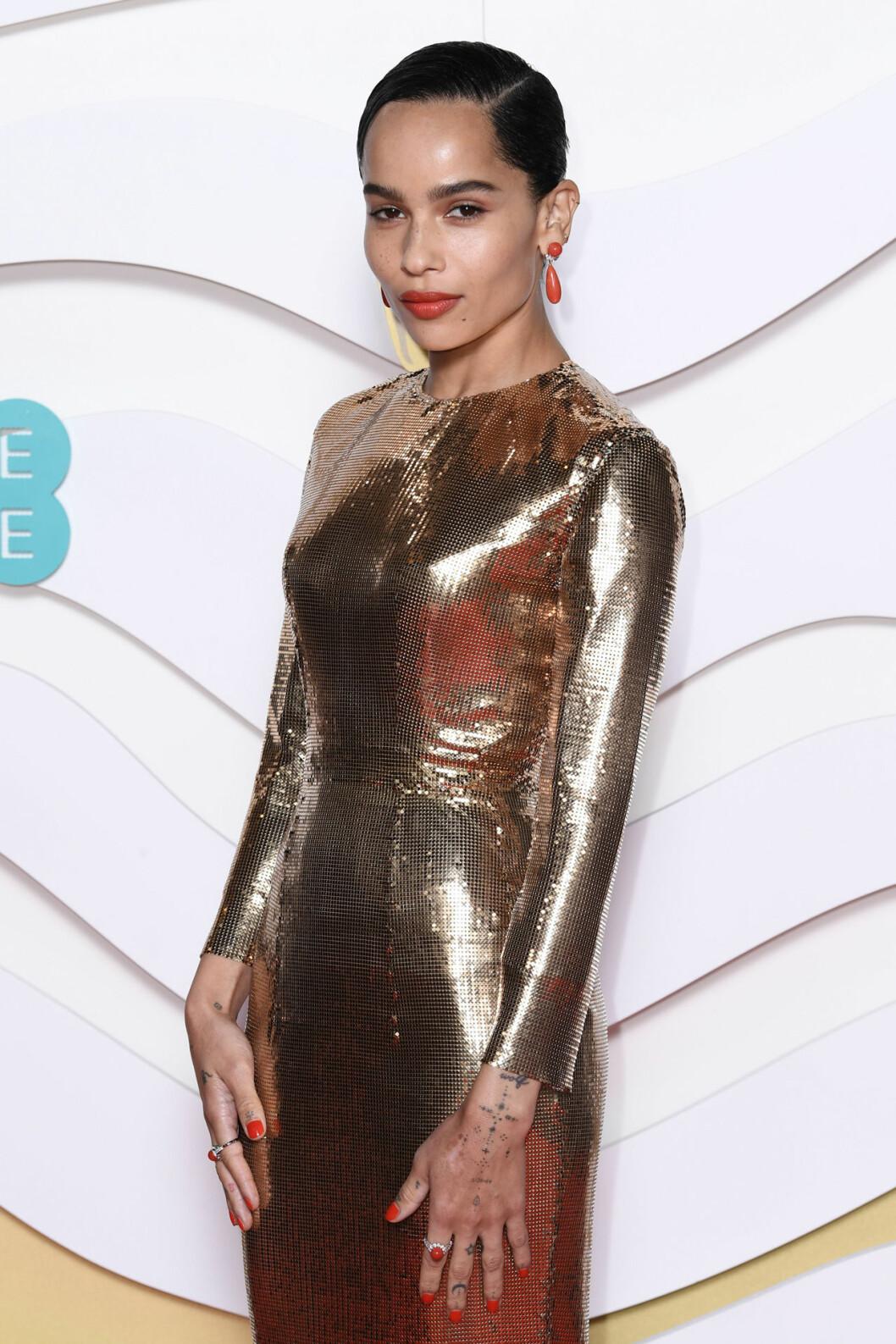 Zoe Kravitz på Bafta-galan 2020.