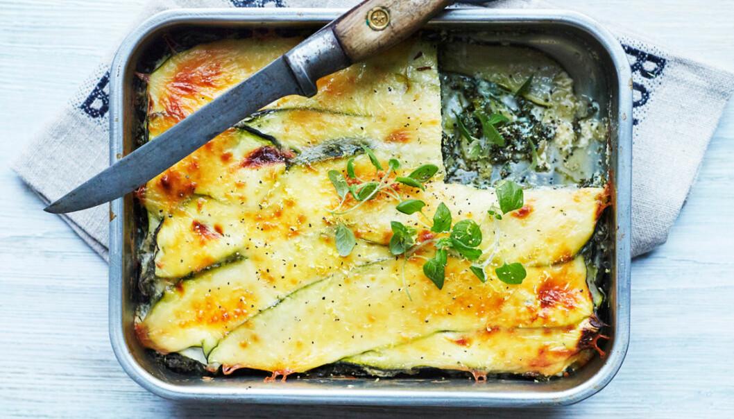 Recept på zucchinilasagne
